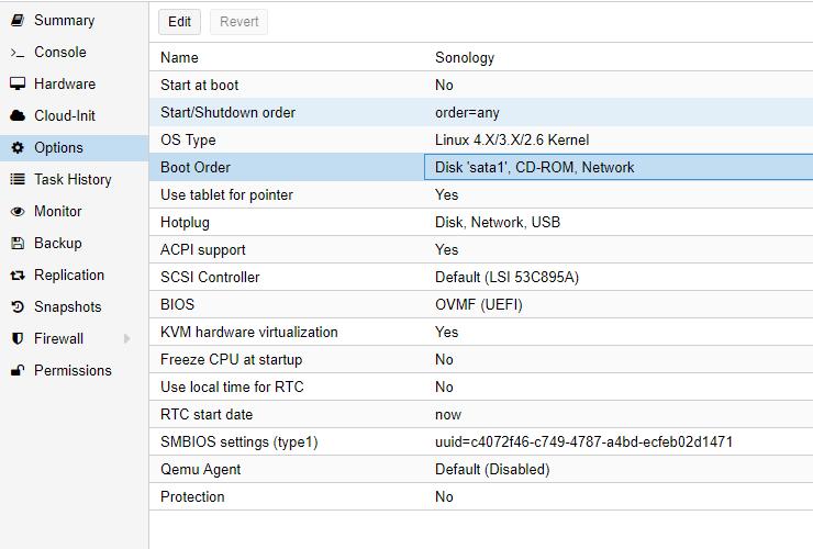Installing Synology VM on Proxmox